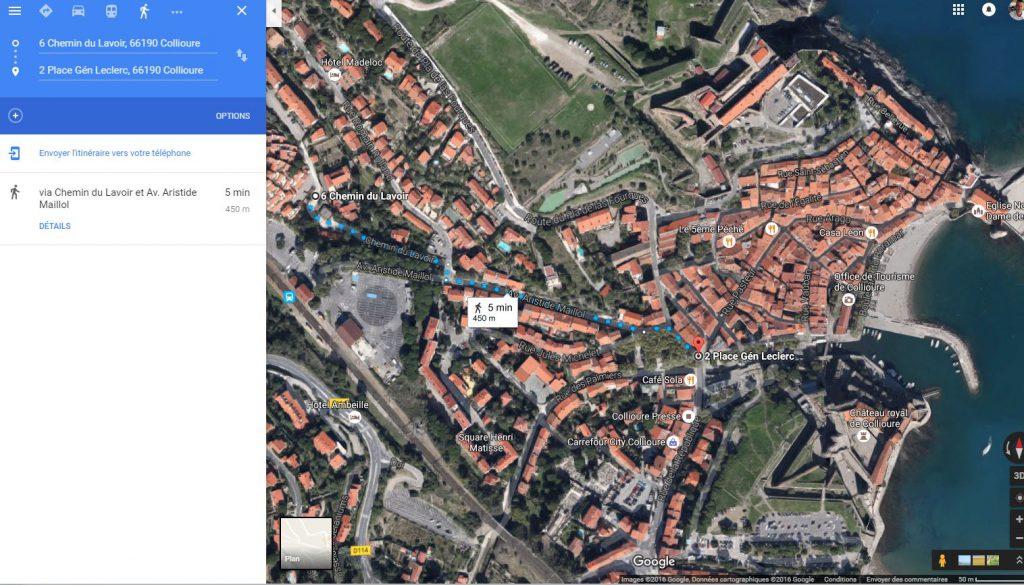 Distance entre l'appartement et place du marché : 450 mètres