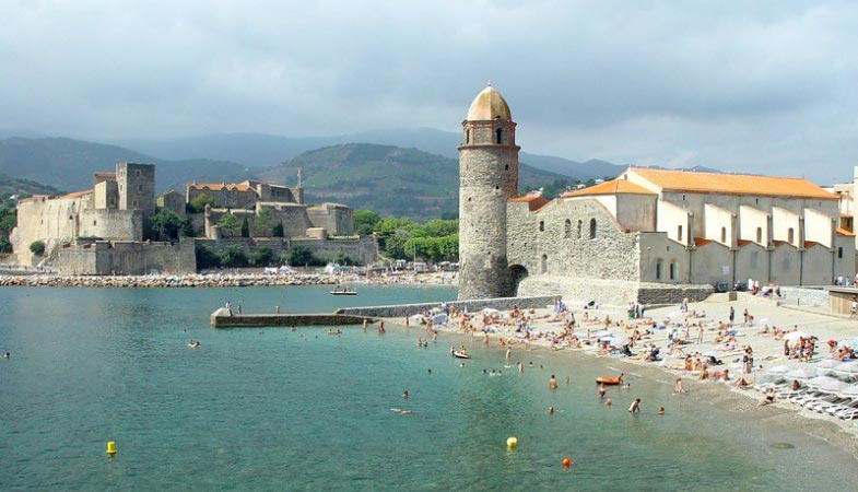 Collioure plage saint vincent