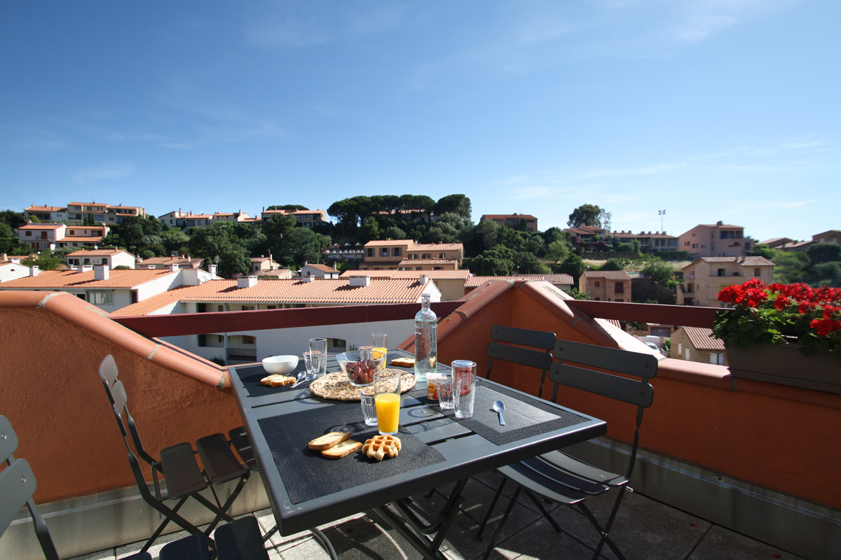 collioure-terrasse-appartement-vue dégagée