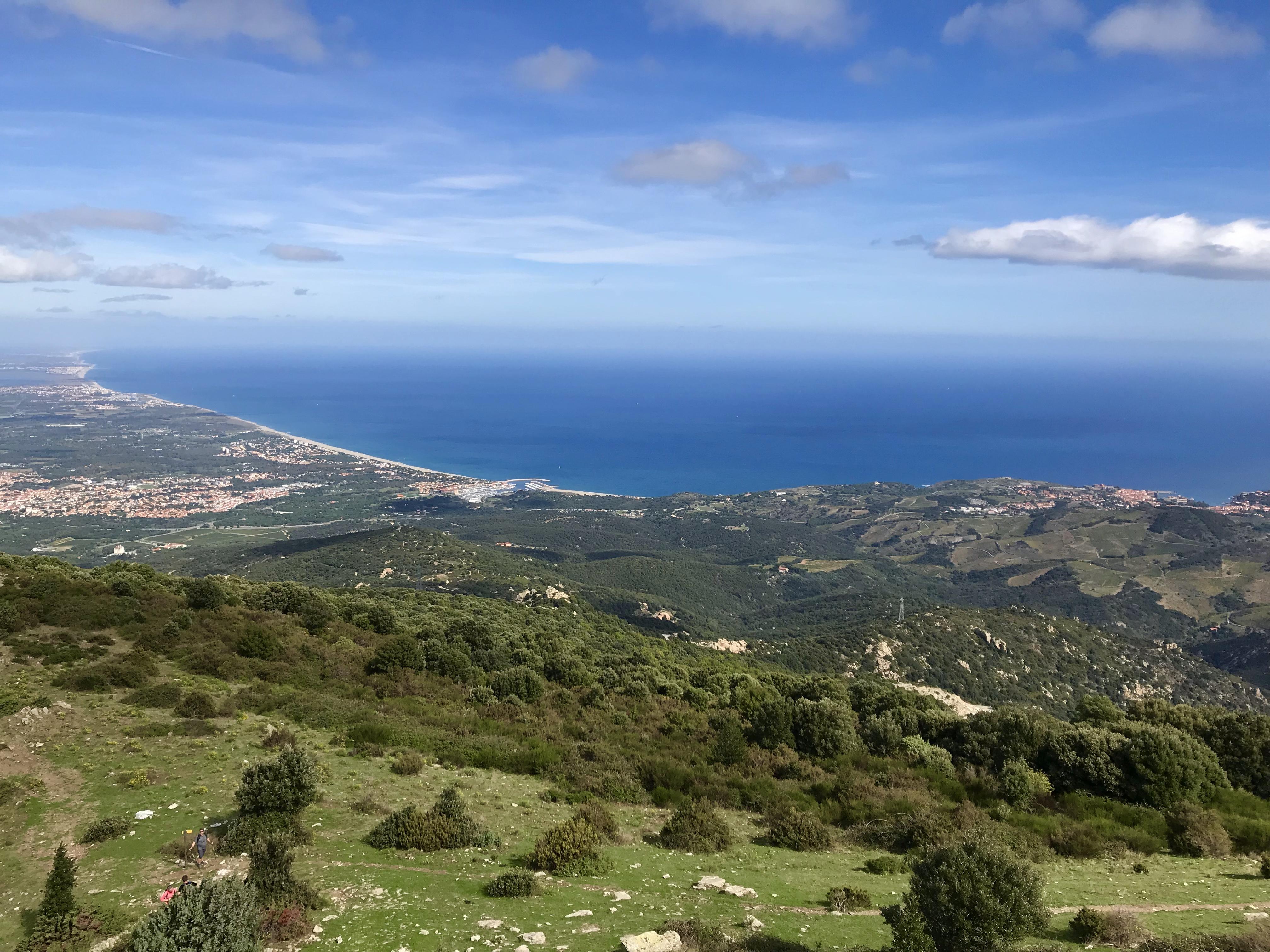La vue sur Argeles depuis la Madeloc