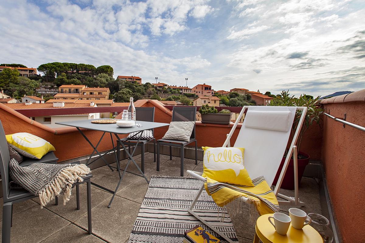 collioure appartement de vacances avec terrasse